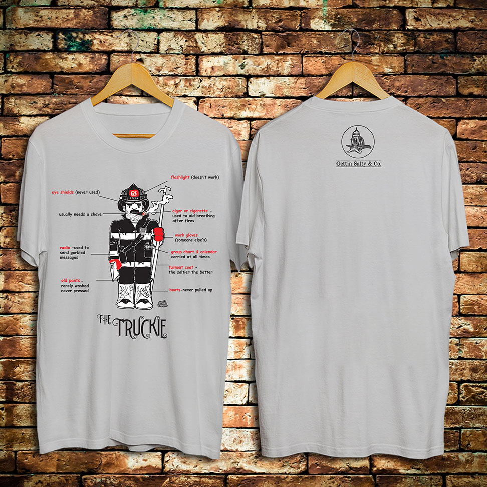 66a28a9feba Check out these funny firefighter t-shirts at Gettin Salty Apparel   Co.